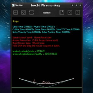 Delphi XE6 Firemonkey Box2d Physics Engine