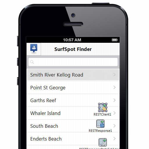 Surf Spot Finder REST App Source Code For Delphi XE5
