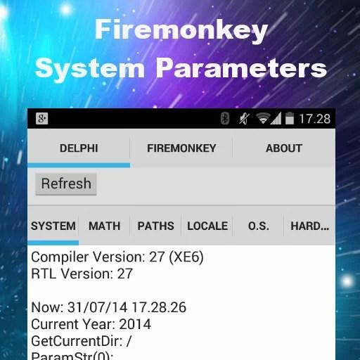 Delphi Inspect System Parameters App In Delphi XE6