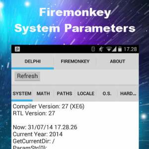 Delphi XE6 Firemonkey System Parameters