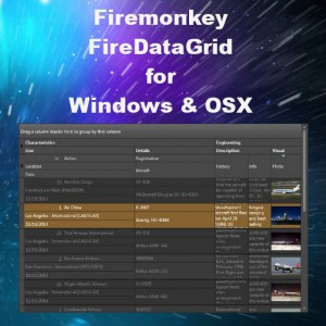 Delphi XE6 And XE7 Firemonkey Fire Data Grid Component