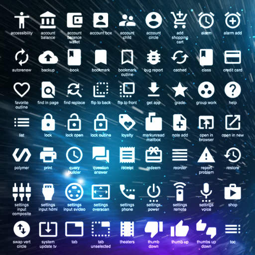 750 Free Icons From Google For Your Delphi XE7 Firemonkey Apps On