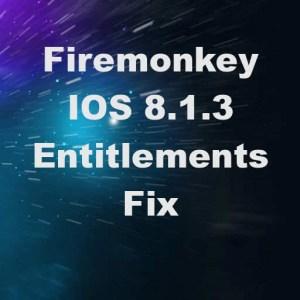 Delphi XE7 Firemonkey Entitlements Fix For IOS 8.1.3