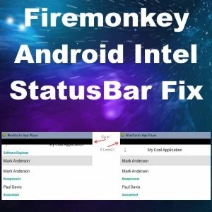 Delphi 10 Seattle Intel Status Bar Fix Android