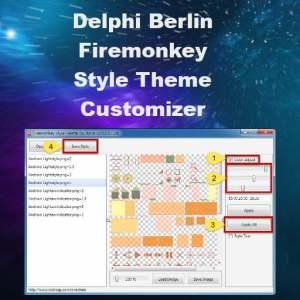 Delphi 10 Berlin Firemonkey Style Theme Creator Utility