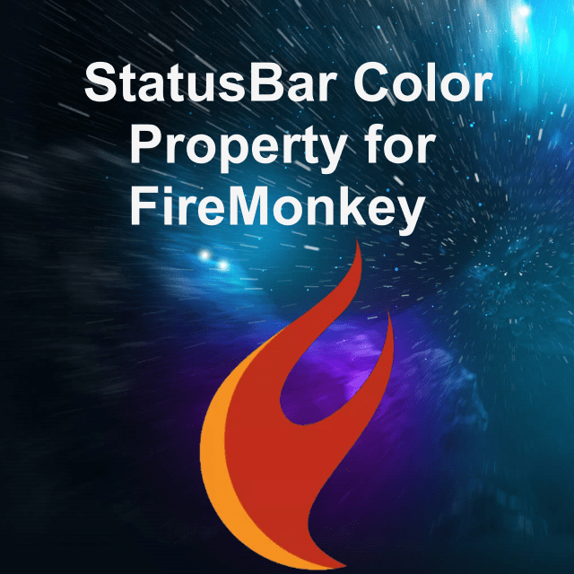 change the statusbar color property for firemonkey in