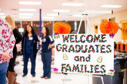 welcome graduates and families sign