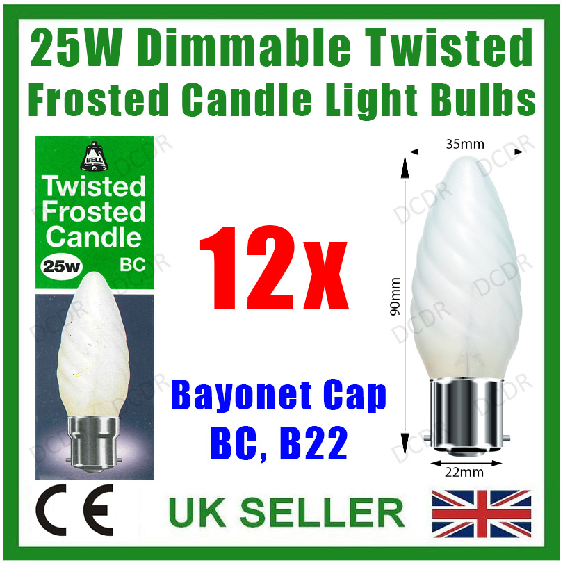 Twisted Frosted Candle Light Bulbs