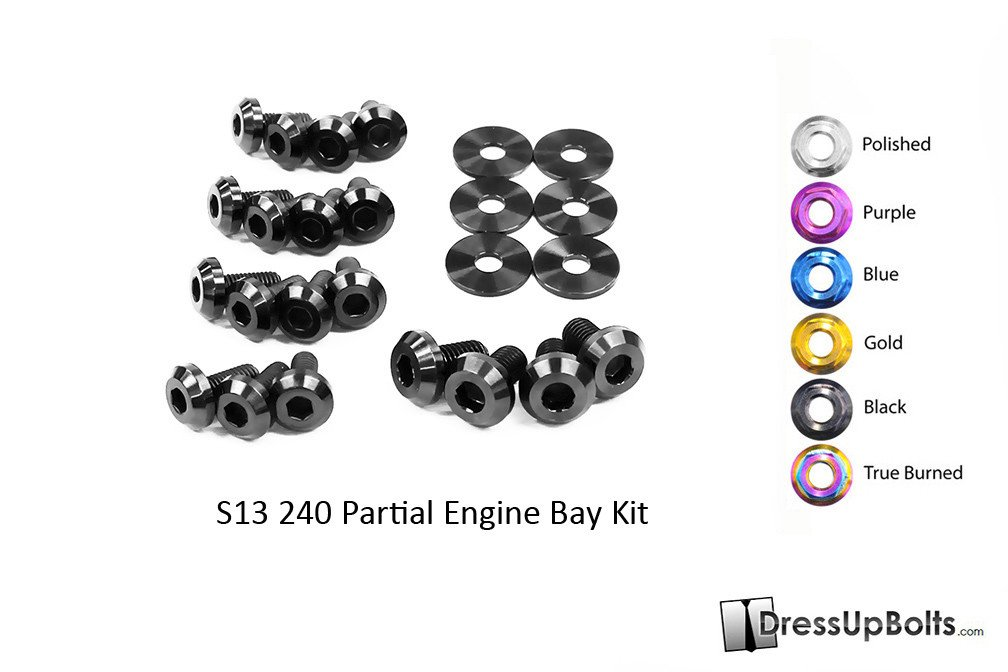 Nissan S13 240sx (1989-1995) Titanium Dress Up Bolts