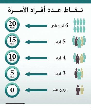 عدد أفراد الأسرة