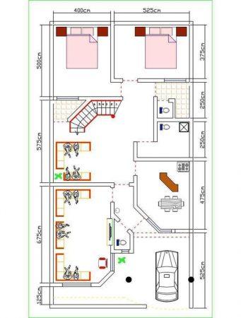 مخطط منزل دور واحد 200 متر بالصور الداخلية والخارجية