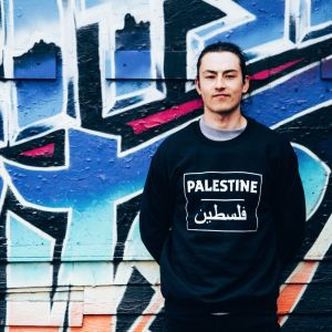 Palestine English / Arabic Sweatshirt Black