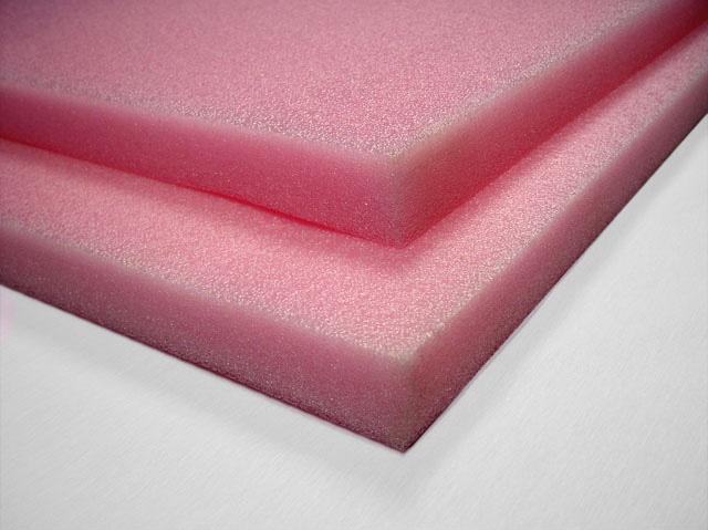 AntiStatic Polyethylene Foam Sheets 17 LB Pink  Foam By