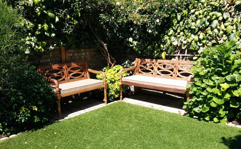 Outdoor garden seating bench cushions