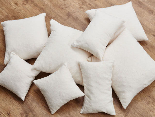 Latex Scatter Cushions Cut to Size and Shape.