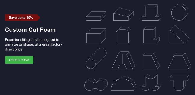 Order foam online