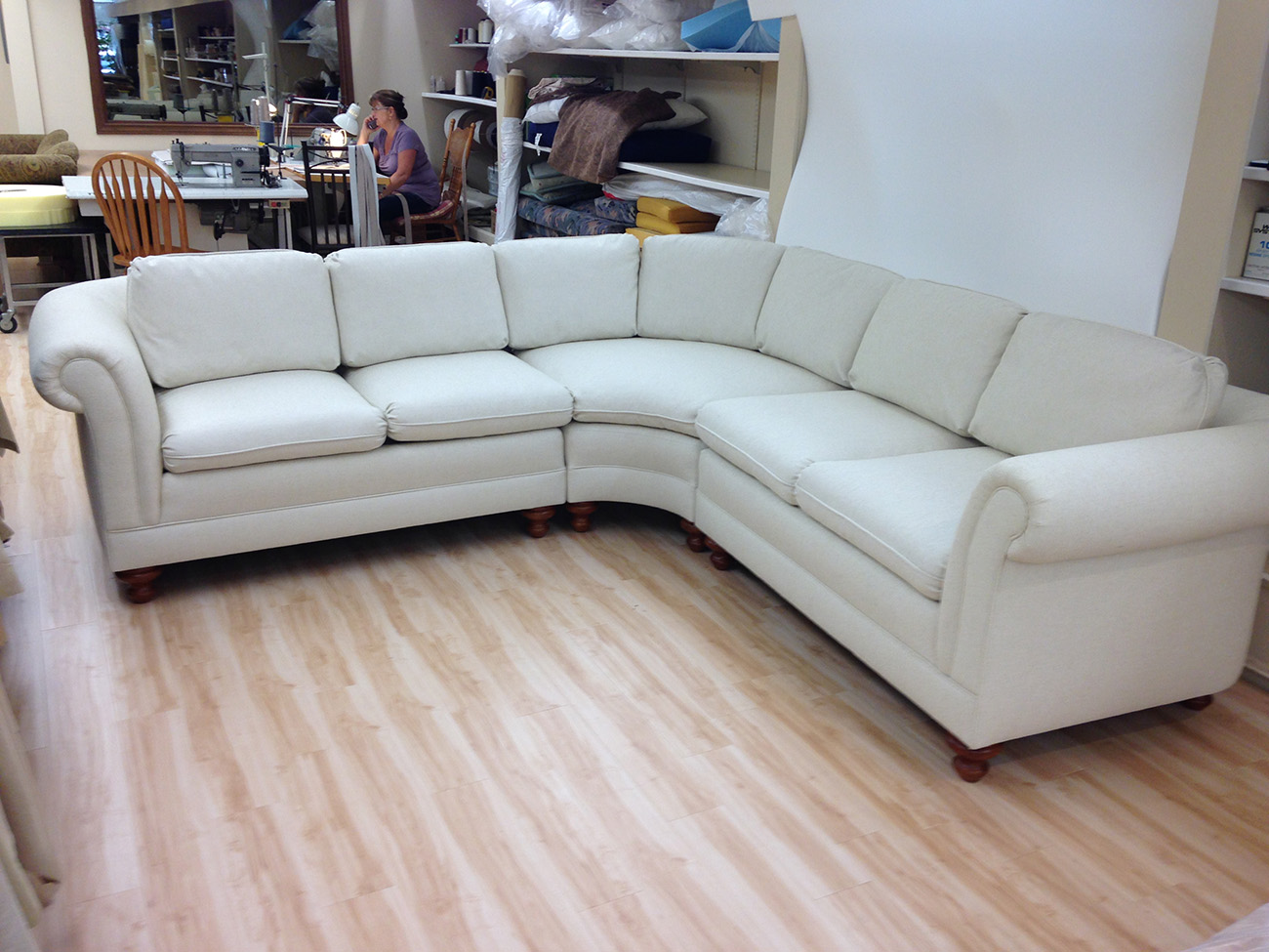 vinyl sofa repair 72 inch wide sleeper sectional re upholstery foamland and ted 39s