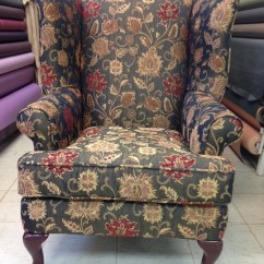 Back Massage Chair Unusual Chairs And Sofas Reupholstered Wing | Foamland Ted's Furniture Restoration Repair ...