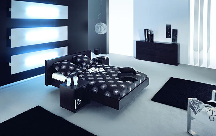 Mod Platform Bed Night Table with wheels Night Table