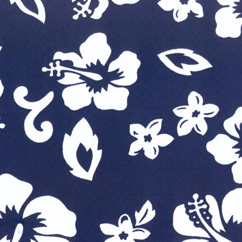 Neoprene Sheet Blue Hawaii Hibiscus pattern