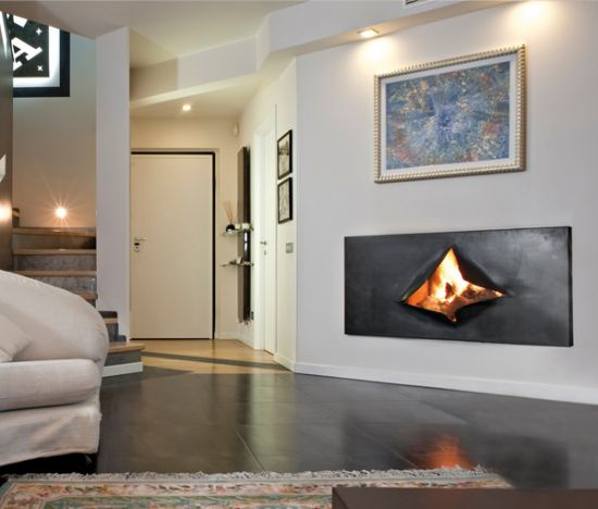 Contemporary fireplace insert  Focus