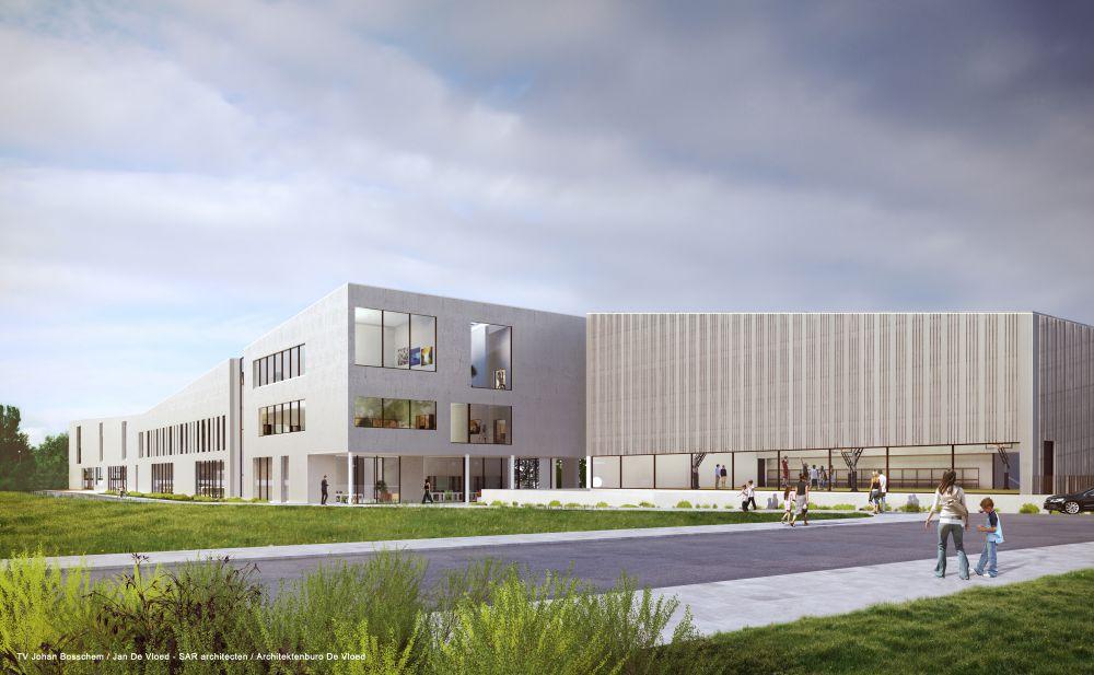 Eerste steen voor twee nieuwe scholen RHIZO  Focus en WTV