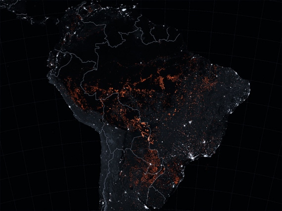 Sud America, 15-22 agosto 2019: la foresta pluviale brucia