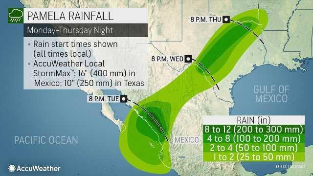 Rain map October 12