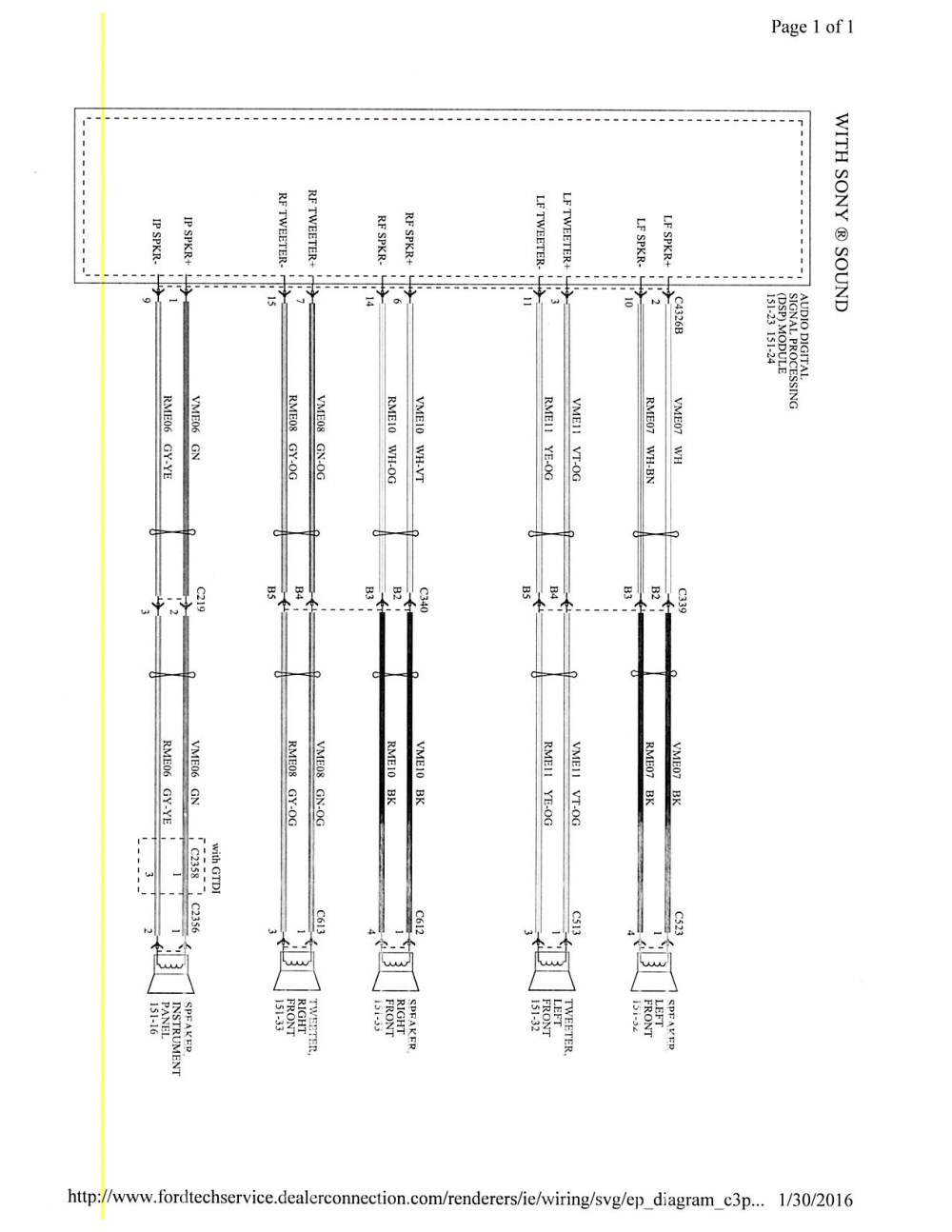 medium resolution of 2015 focus mk3 5 stereo wiring diagram ford focus forum ford nissan versa stereo