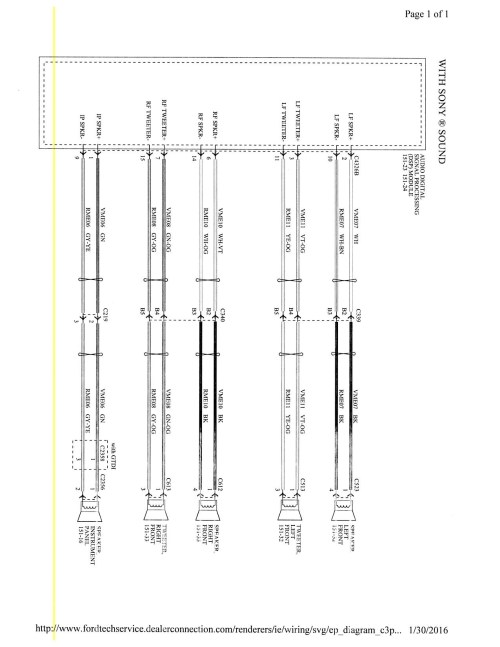 small resolution of 2015 focus mk3 5 stereo wiring diagram ford focus forum ford nissan versa stereo