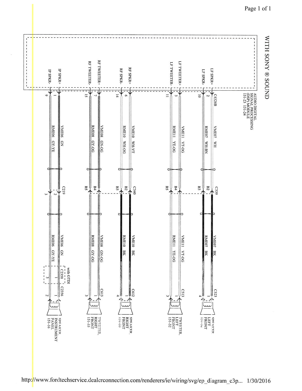 focus st stereo wiring diagram