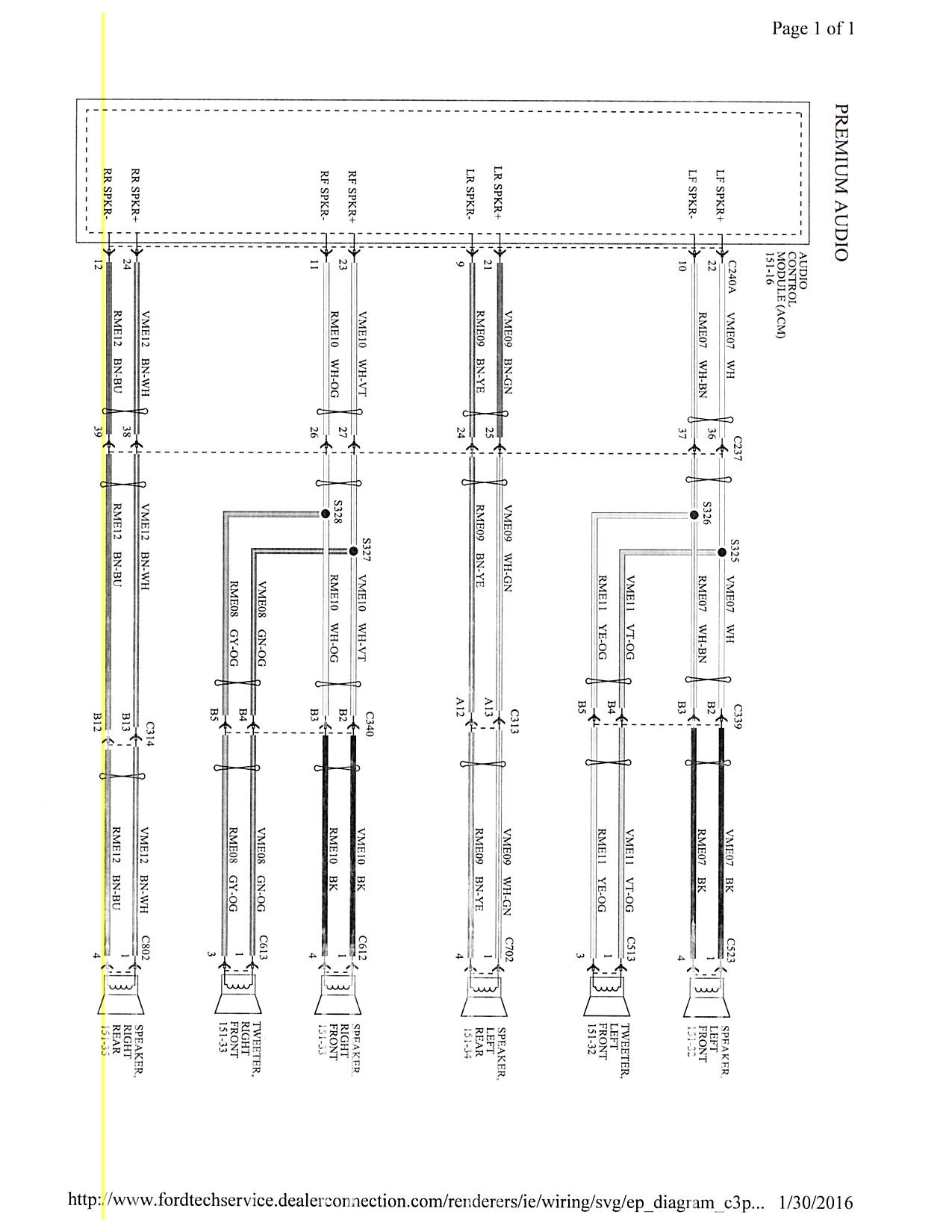 Ford Focus Wiring Diagram Sony Amp