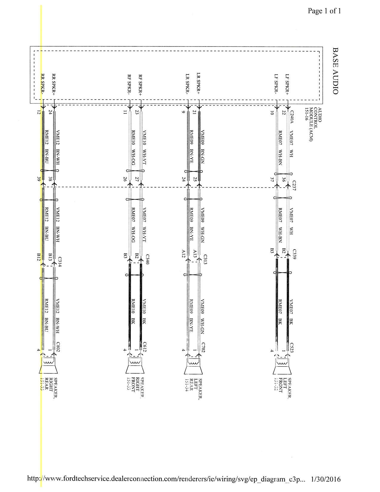 ford focus sync wiring diagram