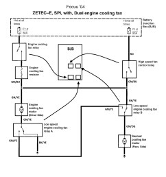 cooling fans blowing fuse page 3 ford focus forum ford focus 2002 ford focus cooling fan wiring diagram ford focus fan wiring [ 1330 x 1316 Pixel ]