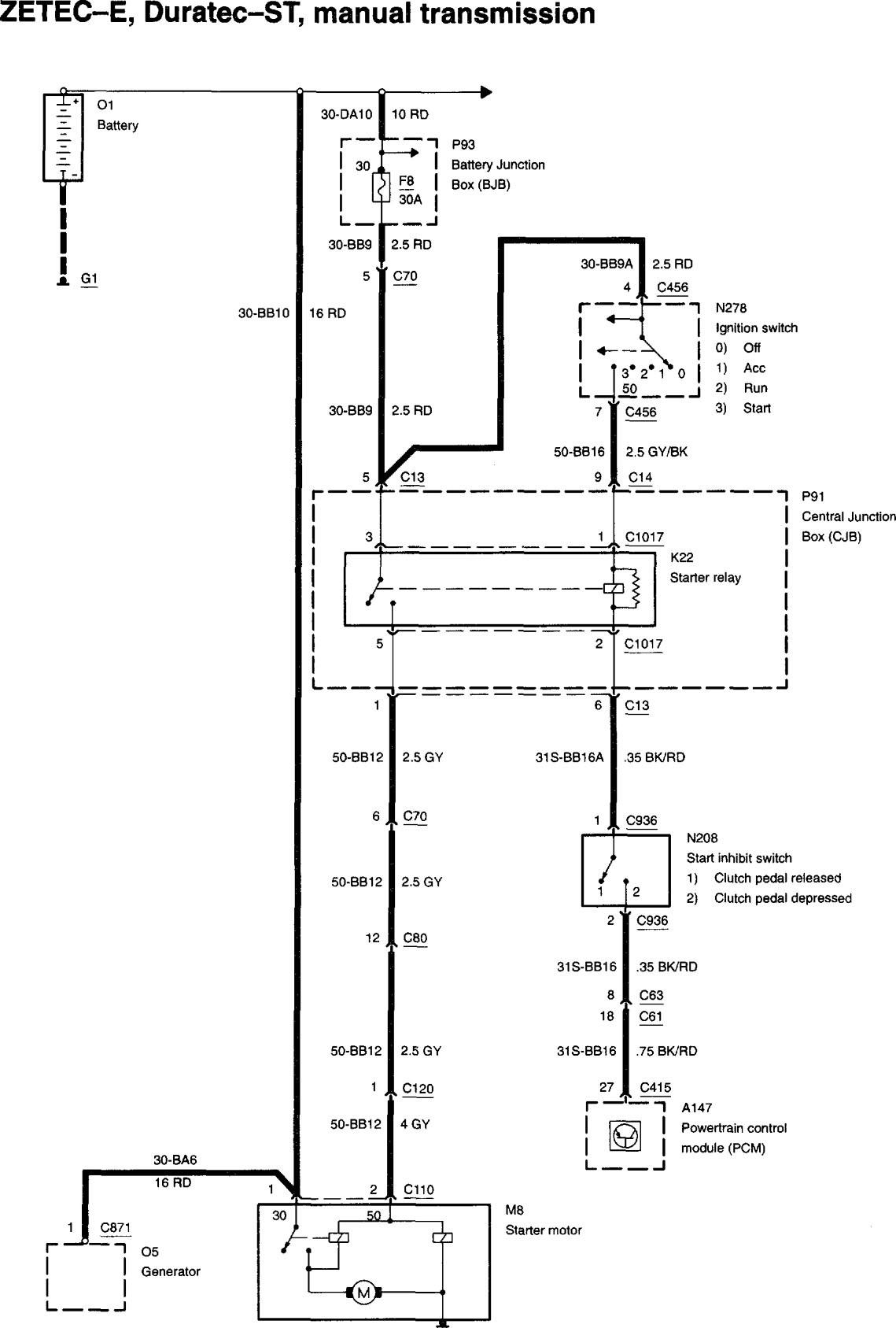 Need Wiring Diagram Focus Manual Trans