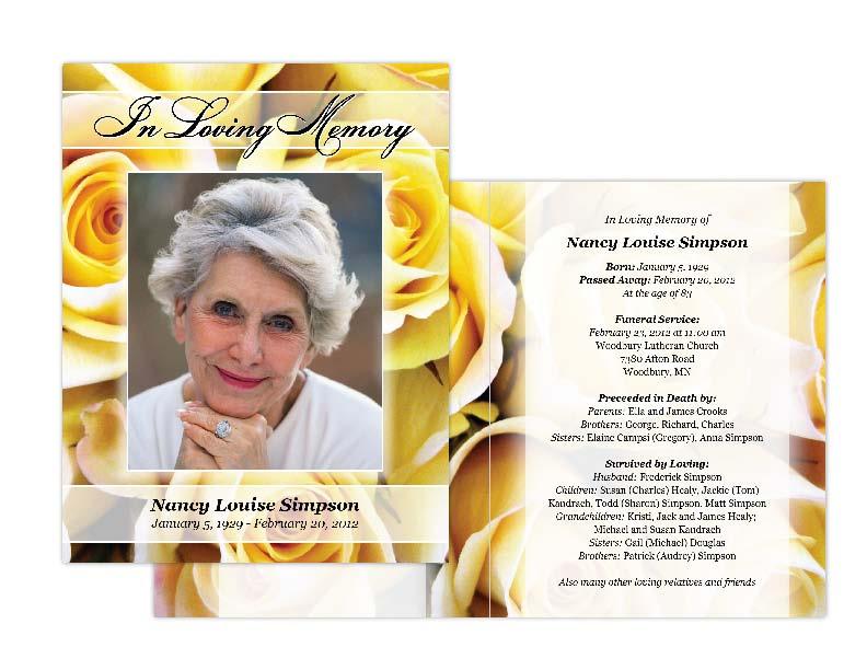 Memorial Cards Memorial Programs And Memorial Bookmarks