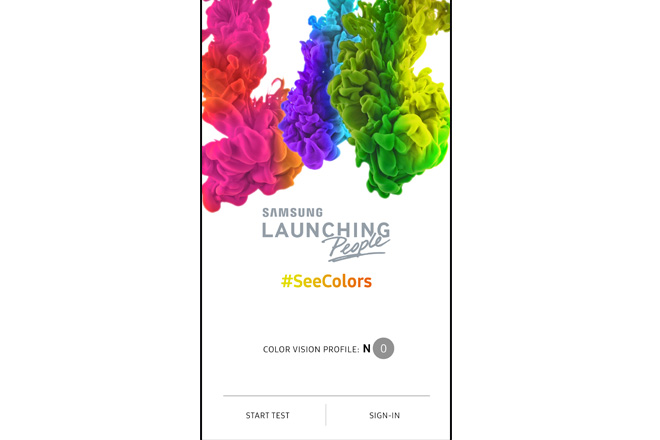 Samsung lance l'application SeeColors