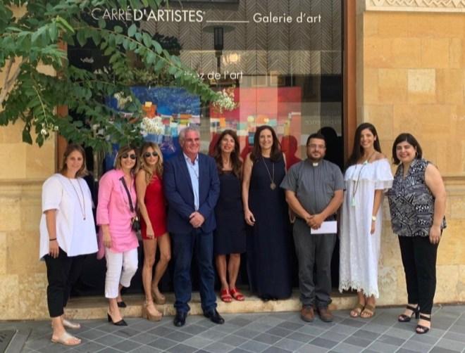 10% des bénéfices d'une vente d'œuvres d'art en ligne, reversés à «Mon Liban d'Azur» à la galerie Carré d'artistes Beyrouth