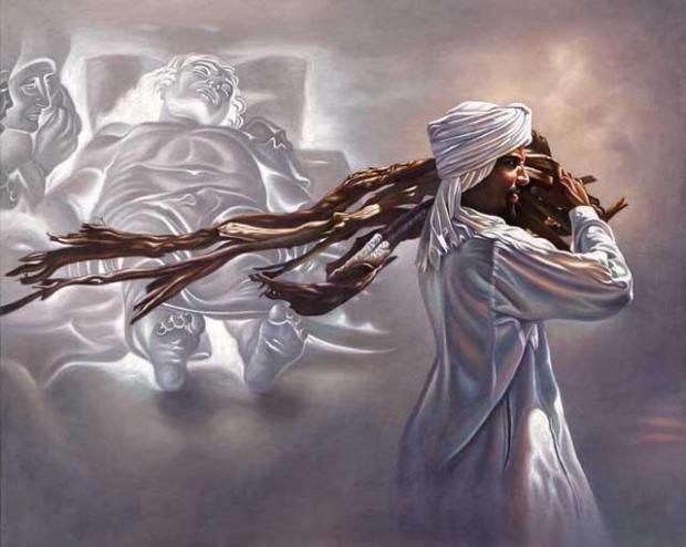 Senza titolo, Ali Hassoun (olio su tela)