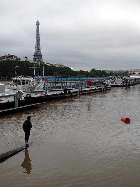 Piena della Senna a Parigi, 3 giugno 2016. Ph. Silvia Dogliani
