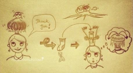 """Doodle, June 2013: """"Gutsy bun"""" master plan, me a genius ^_^"""