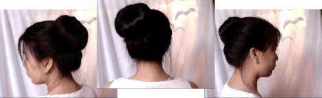 a simple and fast way to make a sock bun for thick, course, stiff, or disobedient hair.