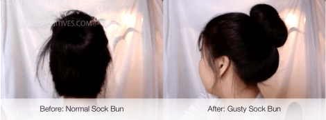 Gutsy sock bun: an alternative sock bun