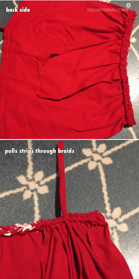Diy t-shirt suspender skirt (no sew) part4