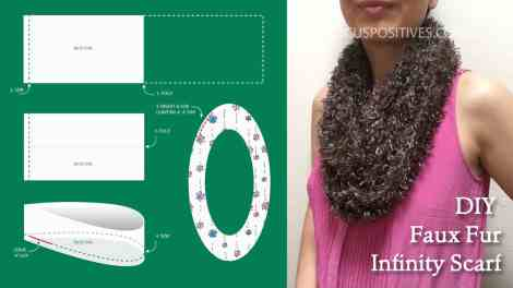 diy faux fur infinity scarf