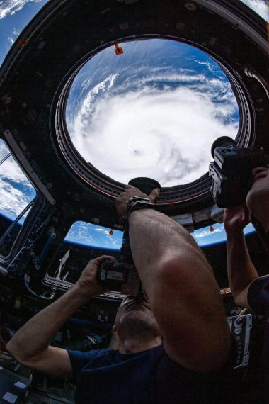 Hurricane Dorian From ISS Cupola
