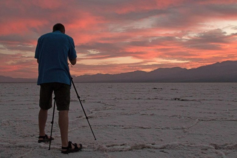 Photographer in Death Valley National Park