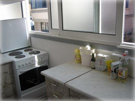кухня на лоджии дизайн фото 6