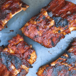 These fall off the bone ribs are the perfect combination of sweet and spice. Seasoned with a FODMAP friendly dry rub and then coated with a delicious low FODMAP BBQ sauce, this recipe is a winner! www.fodmapformula.com