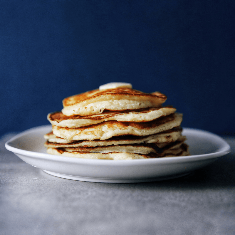 Low FODMAP Pancakes on plate